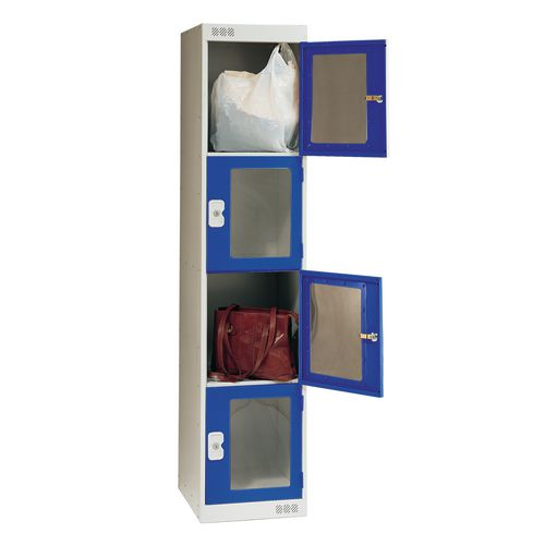 Vision Panel Door Locker 4 Door Large Blue Door