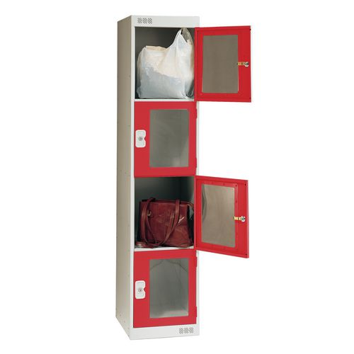 Vision Panel Door Locker 4 Door Large Red Door
