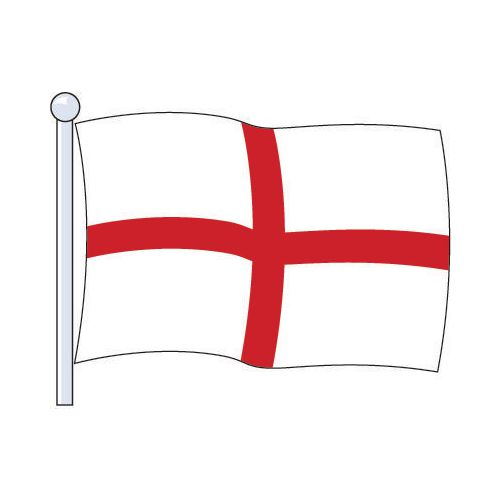 Flag National St.George Cross Size Med. 2.29Mx1.14M
