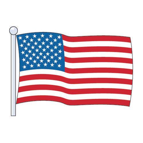 Flag National Usa (Printed &Sewn) Size Medium 2.29Mx1.14M