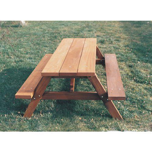 Picnic Table Wood Freestanding L:1200mm W:1275mm
