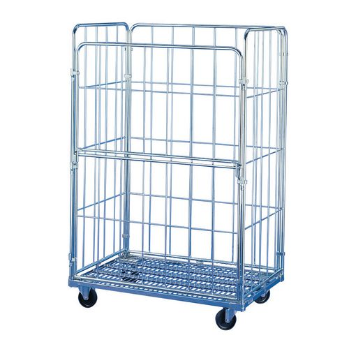 Container Roll Euro Size 4 Sided With Drop Gate