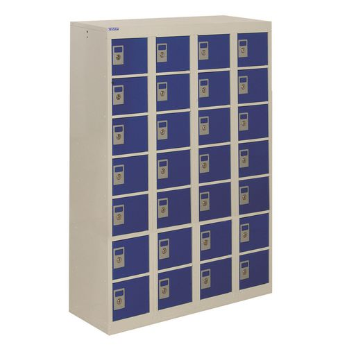 Locker Personal Effects 28 Compartments Blue Door 1285X900