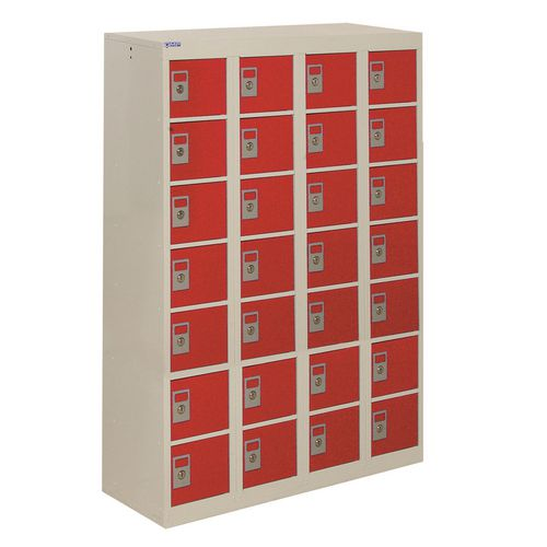 Locker Personal Effects 28 Compartments Red Door 1285X900