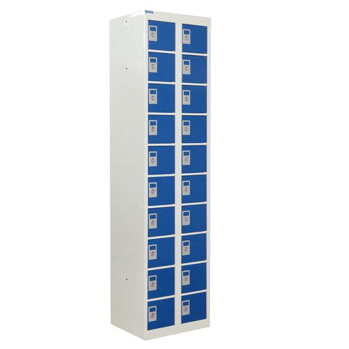 Locker Personal Effects 20 Compartments Blue Door 1800X450
