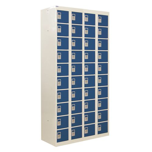 Locker Personal Effects 40 Compartments Blue Door 1800X900