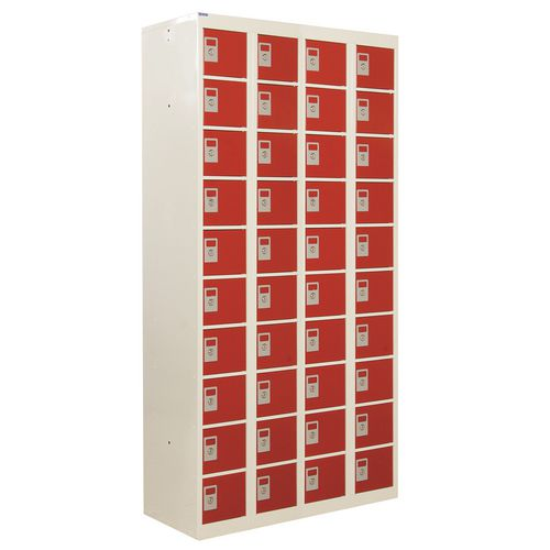 Locker Personal Effects 40 Compartments Red Door 1800X900