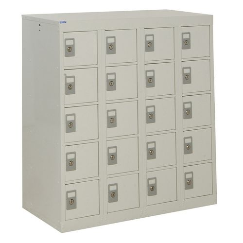 Locker Personal Effects 20 Compartments Light Grey Door 940X900