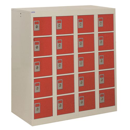 Locker Personal Effects 20 Compartments Red Dr 940X900