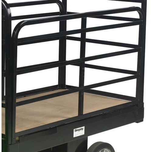 Detachable Side 1200mm Long Black Power Platform Trucks