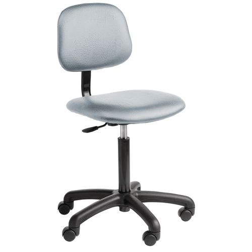 Chair Industrial 5 Star Base Fabric With Castors Light Grey