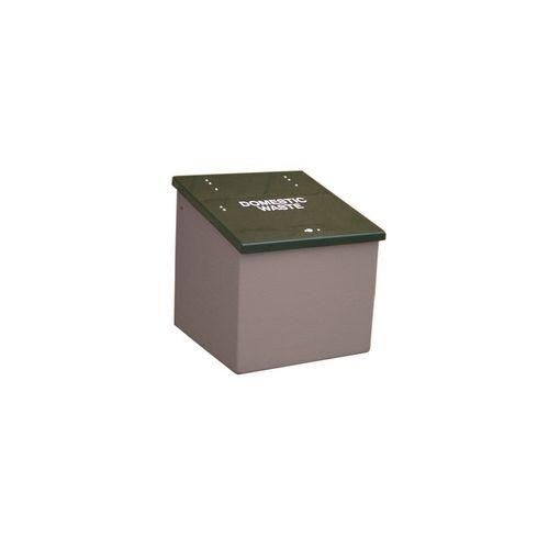 Waste Storage Unit 420 Ltrs Dark Grey + Black Lid