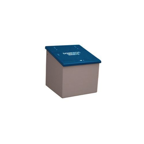 Waste Storage Unit 420 Ltrs Dark Grey + Blue Lid