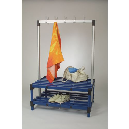 Double Bench With Hooks Blue 12 Hooks Length 1000mm