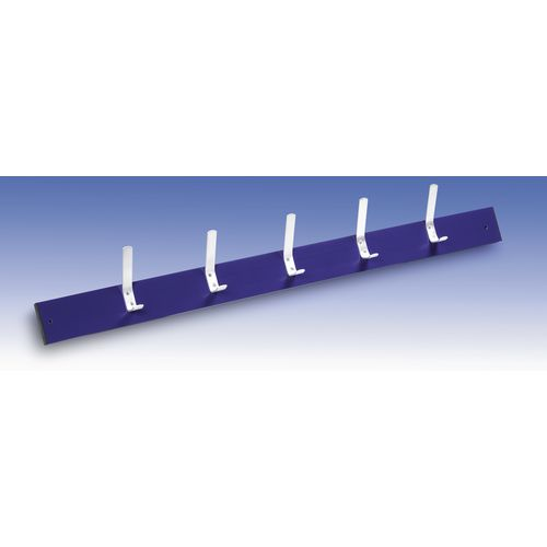 Wall Rack Blue 9 Hooks Length 1200mm