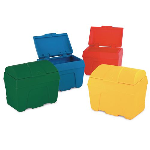 Bin Storage Red-Static/Lock Capacity 400 Litres