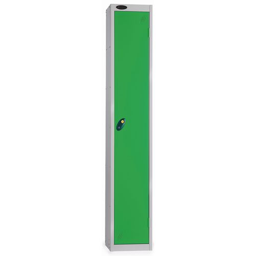 1 Door Locker D305mm Silver Body &Green Door