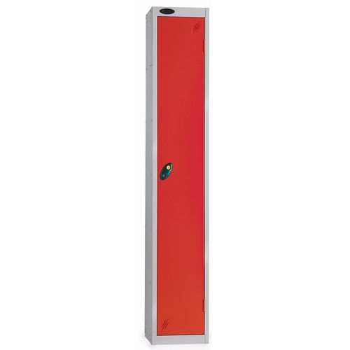 1 Door Locker D305mm Silver Body &Red Door