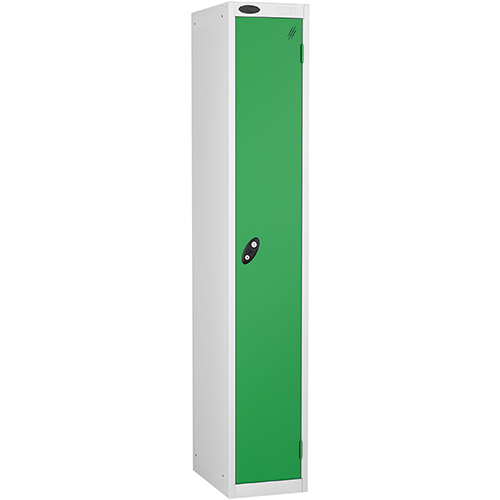 1 Door Locker D305mm White Body &Green Door