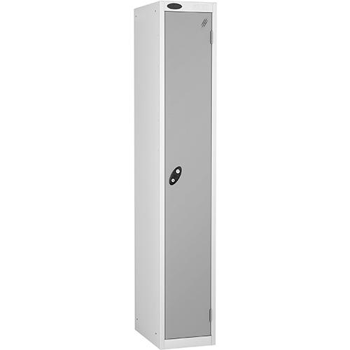 1 Door Locker D305mm White Body &Silver Door