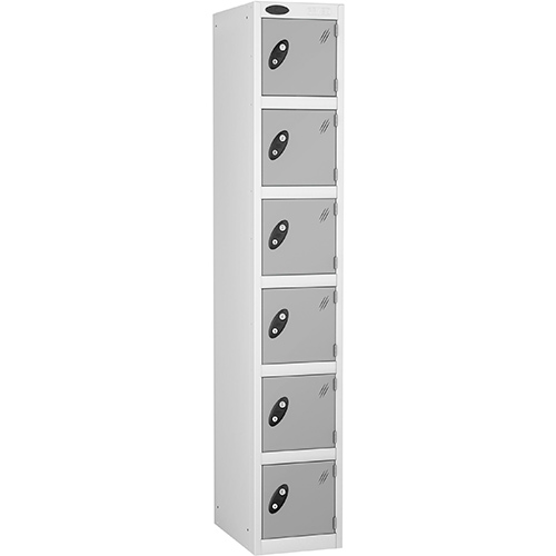 6 Door Locker D:305mm White Body &Silver Door