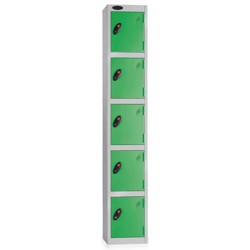5 Door Locker D:457mm Silver Body &Green Door