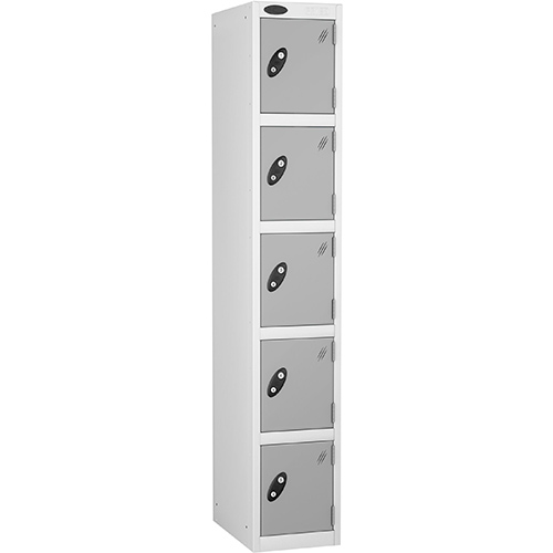 5 Door Locker D:457mm White Body &Silver Door