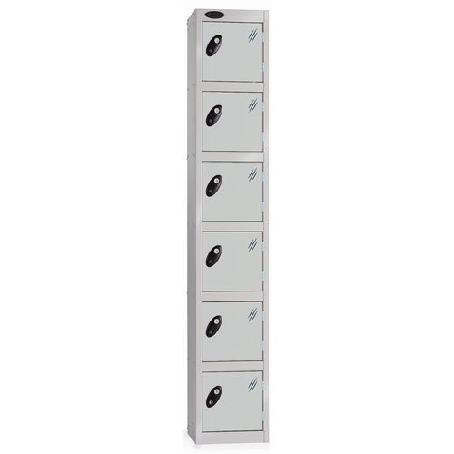 6 Door Locker D:457mm Silver Body &Silver Door