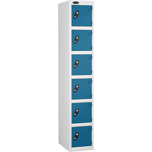 6 Door Locker D:457mm White Body &Blue Door