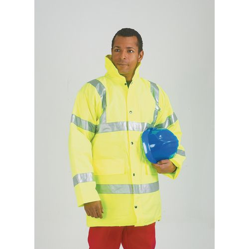Hi-Visibility Coat Yellow Size M