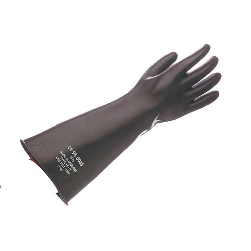 Gauntlet-Black Rubber 42.5Cm Size 10.5 Pack of 2 Pairs Ref:SY327521