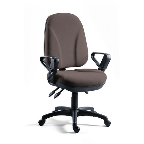 Chair Executive Operator Charcoal High Back With Arms