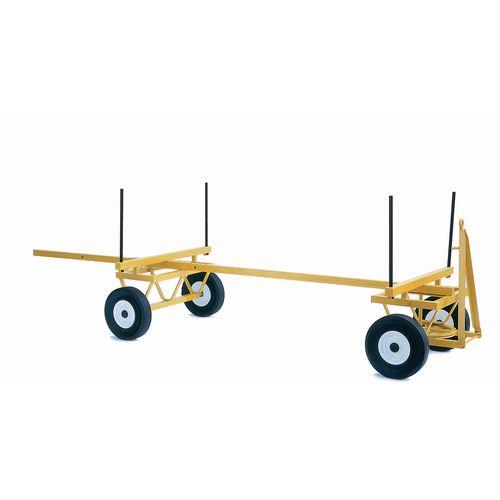 Trailer Timber Pole 500 X 8, 6 Ply Pneumatic, Ball Bearing