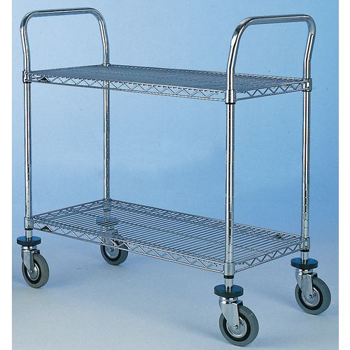 T2 1830Nc  Super Erecta Trolley 2 Tier Chrome