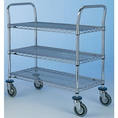 T3 1830Nc  Super Erecta Trolley 3 Tier Chrome