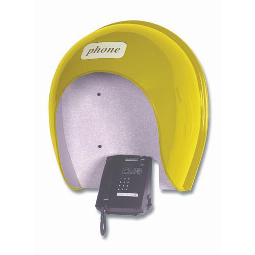 Telephone Hood  Slimline 790x740x360 mm  Yellow