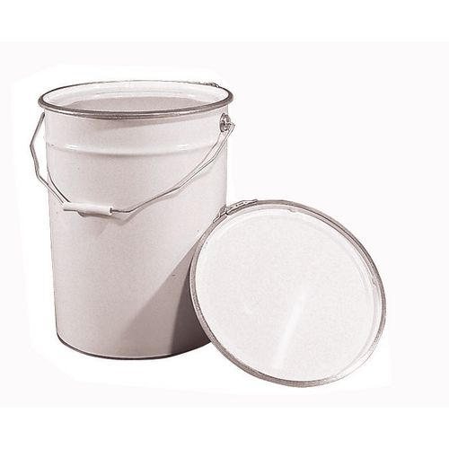 Pails Tinplate White Pack Of 8 Ring Lid