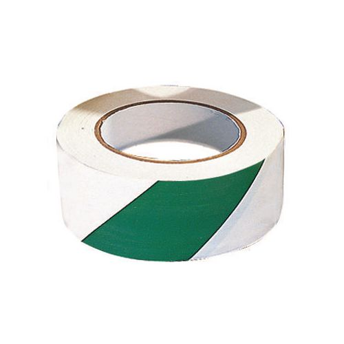 Tape  Warning Roll Of Green/ White Width 50mm