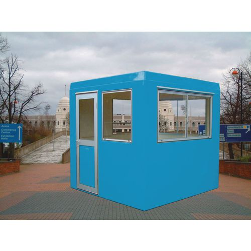 Gatehouse-Security Blue With 2 Sliding Windows