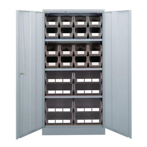 Cabinet Grey Doors 1780x915x460mm 16 Grey Linbins