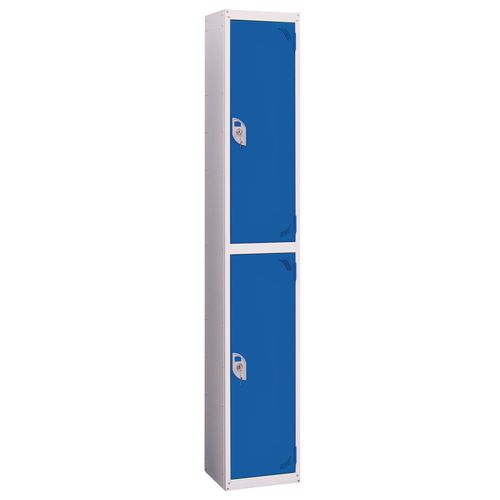 Wet Area Locker 2 Compartment W300xD300 Blue Door