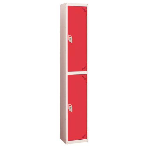 Wet Area Locker 2 Compartment W300xD300 Red Door
