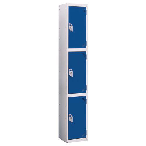 Wet Area Locker 3 Compartment W300xD300 Blue Door