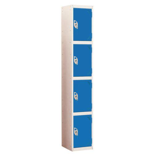 Wet Area Locker 4 Compartment W300xD300 Blue Door