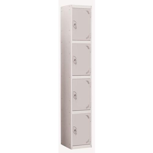 Wet Area Locker 4 Compartment W300xD300 Light Grey Door