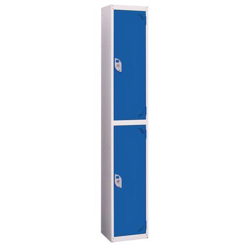 Wet Area Locker 2 Compartment W300xD450 Blue Door
