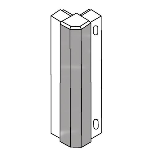 Rail-Protection 90 Degree D.Grey External Corner W:125mm