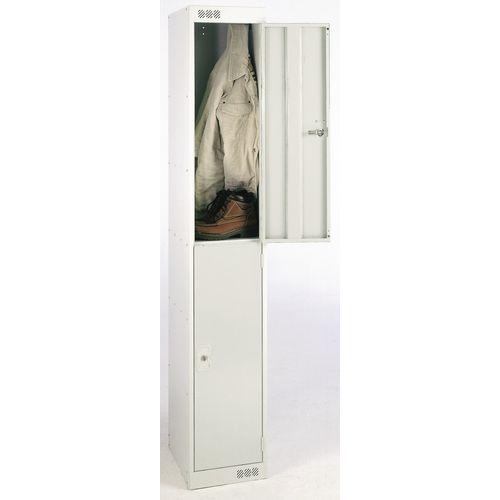 Coloured Door Locker 2 Door Grey Door D300mm