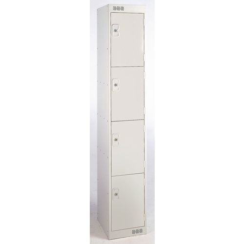 Coloured Door Lockers 4 Door Grey Door 300mm Deep
