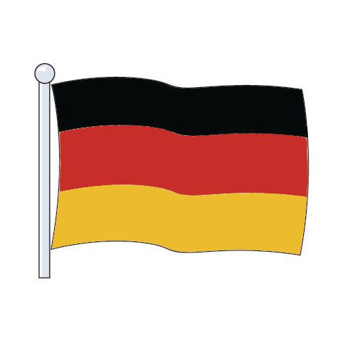 Flag Germany Medium 229x114
